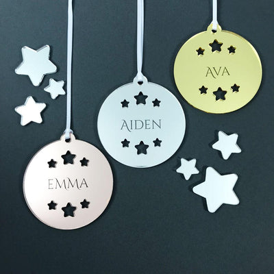 Personalised Name Christmas Ornament - Mirror Acrylic