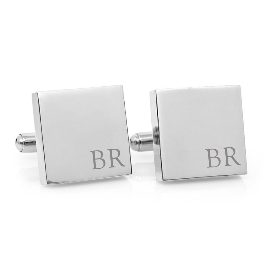 Minimalist Monogram – black and silver cufflinks