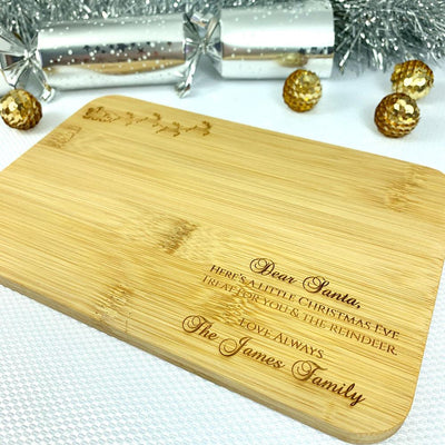 Personalised Santa & Reindeer Treat Board