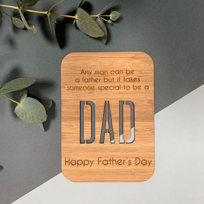 Personalised Father's Day wooden greeting card - Special Dad