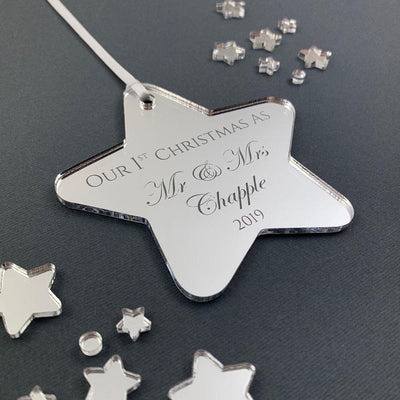 Personalised Christmas Decoration - Our First Christmas as Mr & Mrs