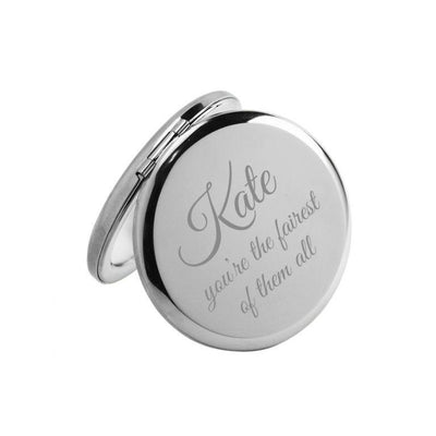 Who's The Fairest of Them All – Personalised Engraved Compact Mirror