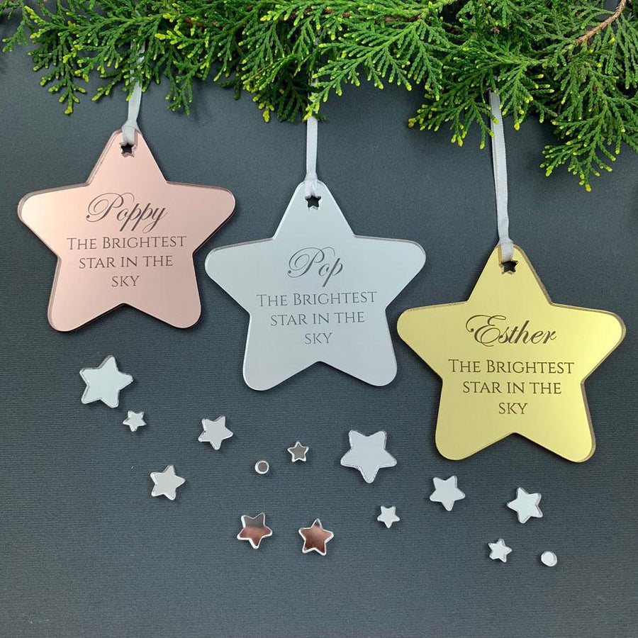Personalised Memorial Christmas Ornament - Brightest Star