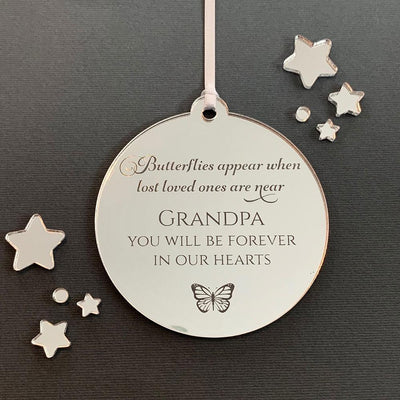 Personalised Memorial Christmas Ornament - Butterflies Appear