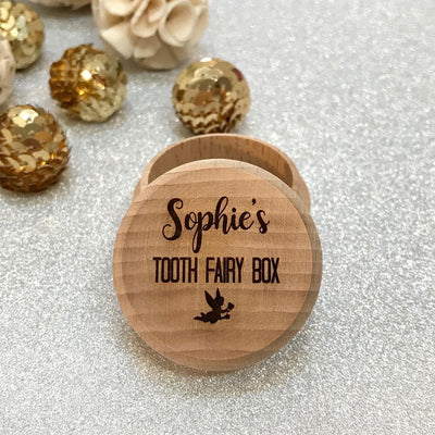 Personalised Tooth Fairy box - Script font