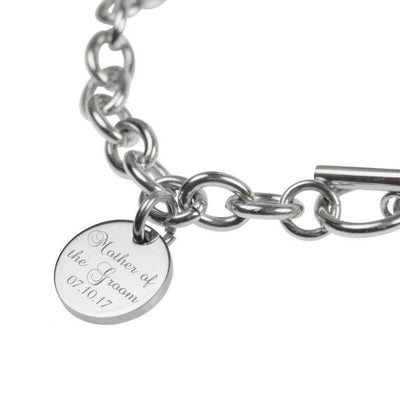 Silver Engraved Personalised Bracelet – Mother of the Bride, Mother of the Groom