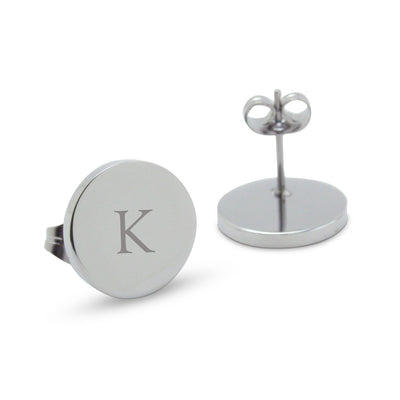 Silver Personalised Monogram Earrings (Classic font)