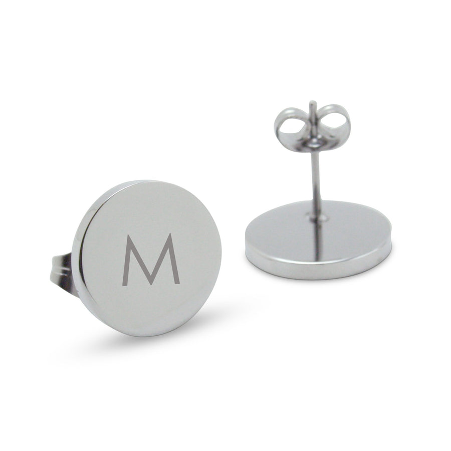 Silver Personalised Monogram Earrings (Modern font)