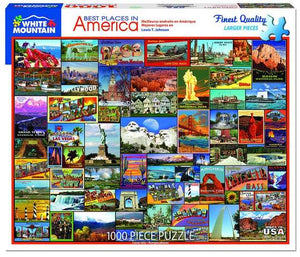 Best Places in America 1000 Piece Puzzle