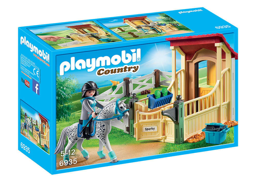 Playmobil Horse Stable with Appaloosa