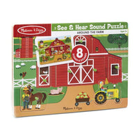 See & Hear Sound Puzzle-Around the Farm