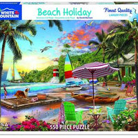 Beach Holiday 550 Piece Puzzle
