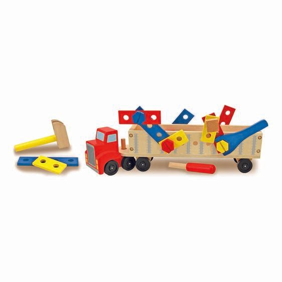Big Rig Building Truck Wooden Playset