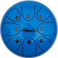 "Amahi 8"" Blue Steel Tongue Drum"