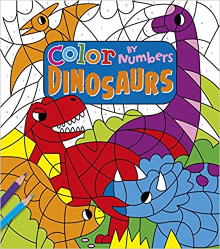Color By Number Dinosaurs