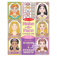 Make a Face Sticker Book Princess