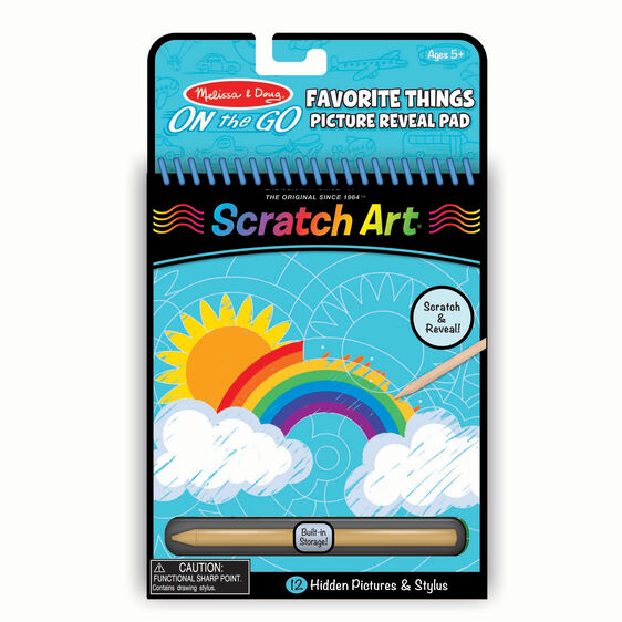 On the Go Scratch Art: Favorite Things Hidden Picture Pad