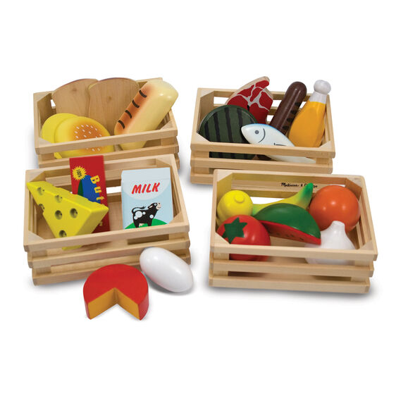 Food Groups Wooden Playset