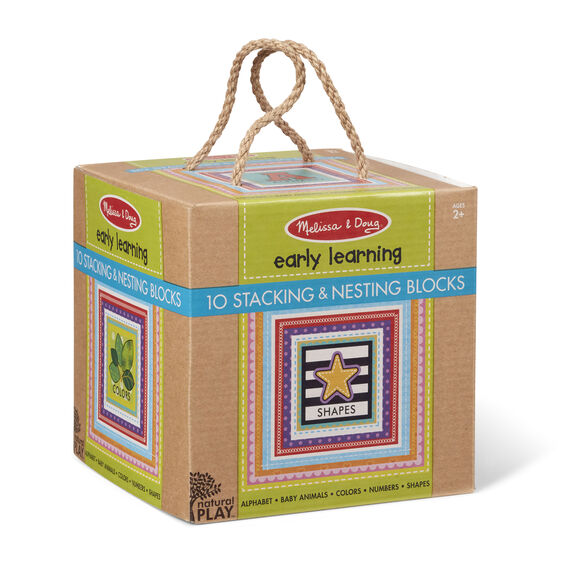 Natural Play Early Learning Stacking & Nesting Blocks