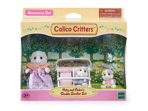 Calico Critters-Patty and Paden's Double Stroller Set