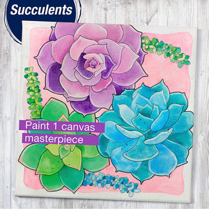 Paint By Number Succulents