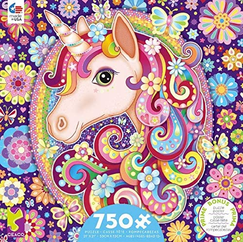 Groovy Animals Unicorn 750 Piece Puzzle