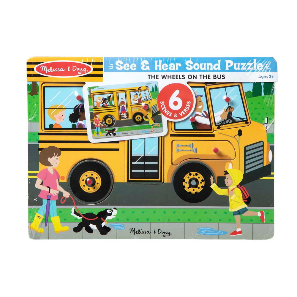 See & Hear Sound Puzzle-The Wheels On the Bus