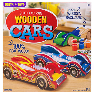 Made By Me! Build and Paint Wooden Cars