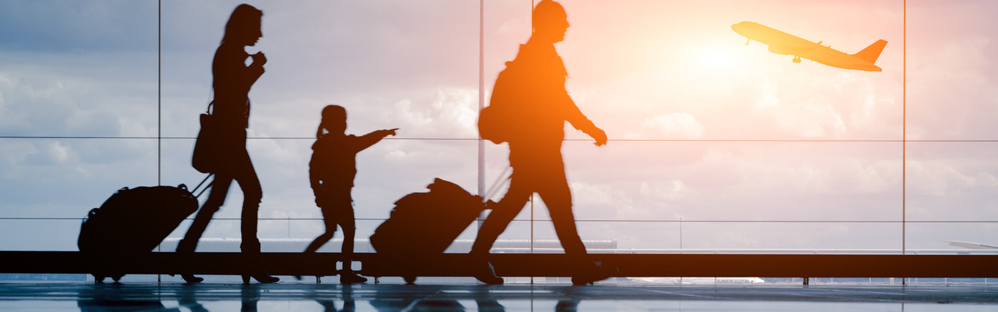 Family Travel Through Airport
