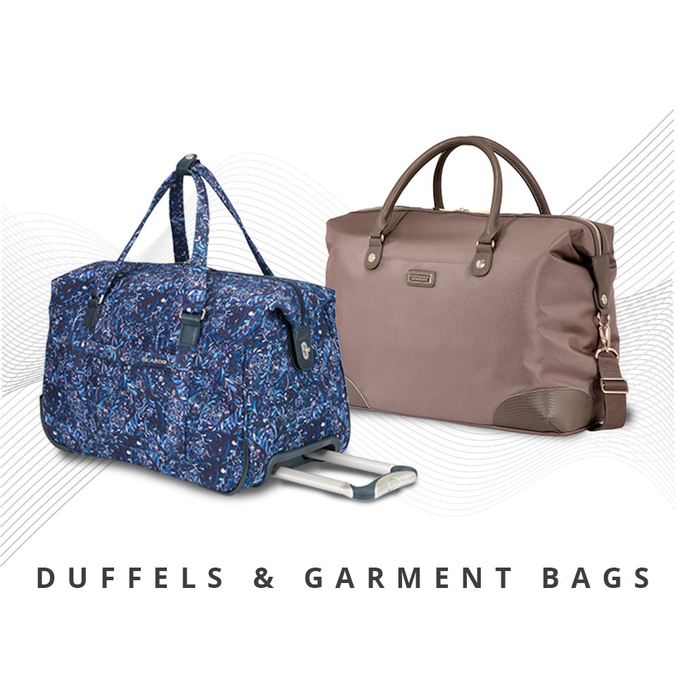 Wheeled and carry duffel bags