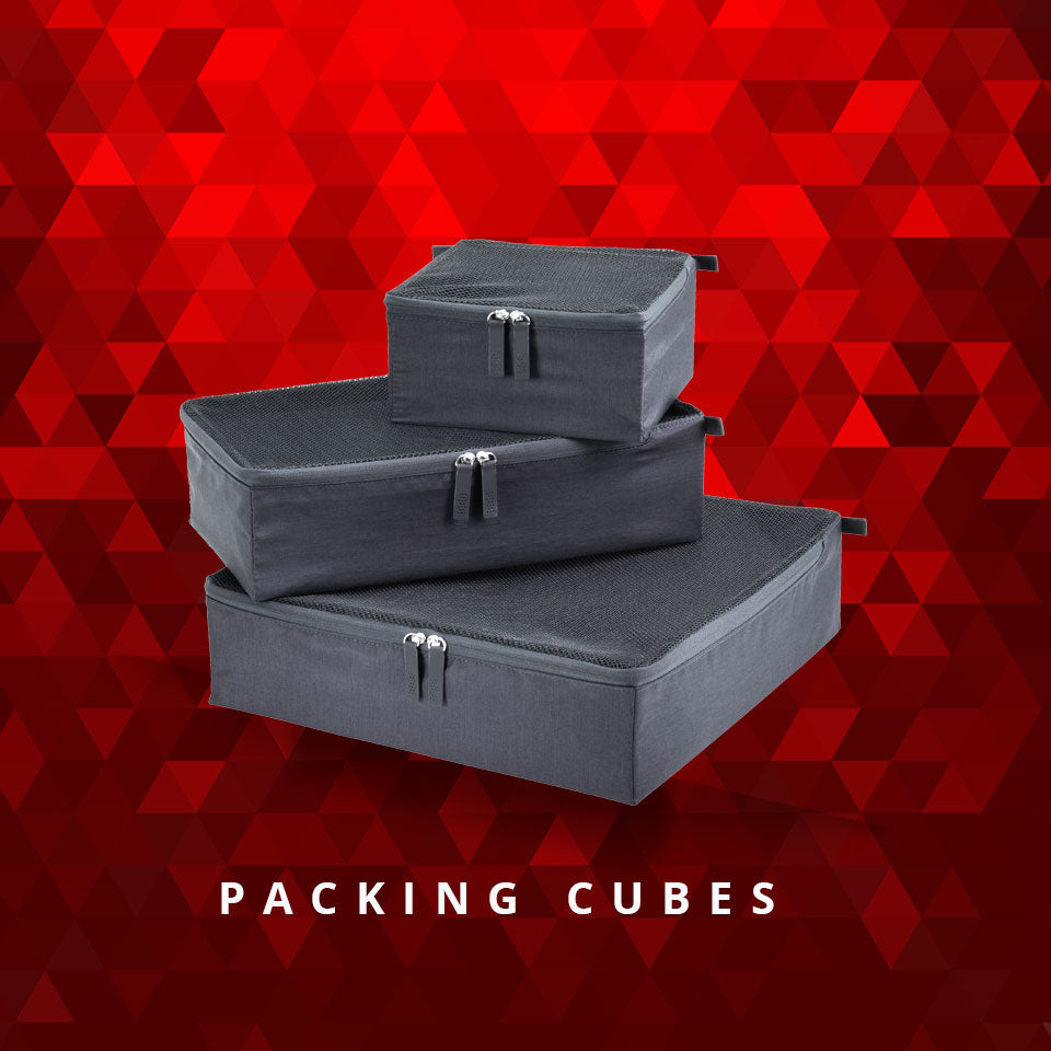 Charcoal Packing cubes set of 3