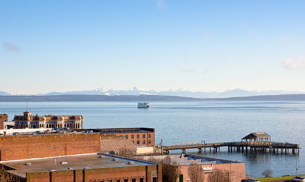 Port Townsend Washington aerial view