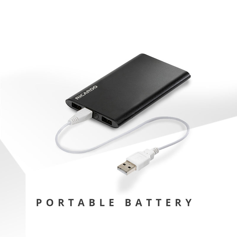 Power Bank Quick Charge Battery in Black