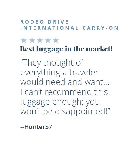 Rodeo Drive International Carry-On - Best luggage in the market!