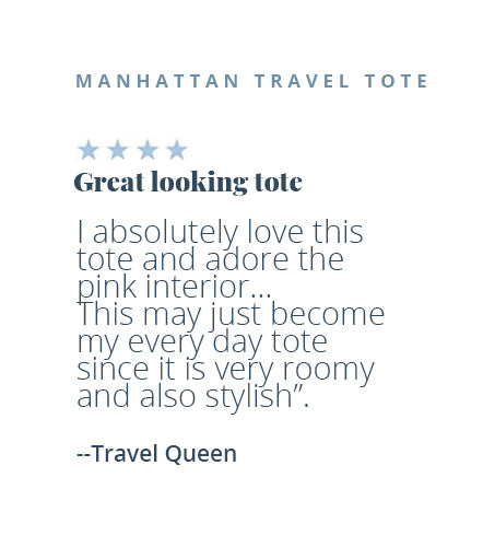 Four-star review of the Manhattan Travel Tote by Travel Queen