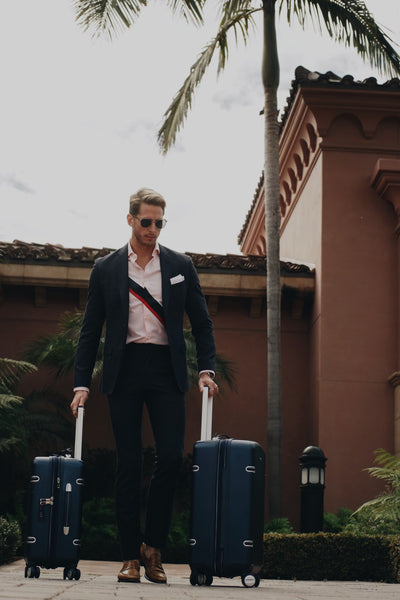 Ty Sever with Ricardo Beverly Hills 'Arris' luggage.