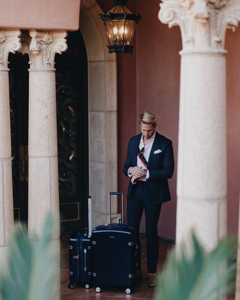 Celebrity stylist, Ty Severe with Ricardo Beverly Hills Arris luggage