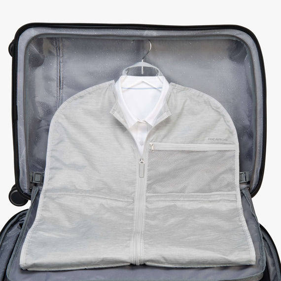Small Garment Sleeve Essentials Small Garment Sleeve in Coud Case View in  in Color:Cloud in  in Description:Packed for Travel