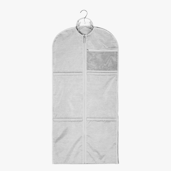 Small Garment Sleeve Essentials Small Garment Sleeve in Coud Front Hanger View in  in Color:Cloud in  in Description:Front