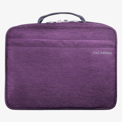 Essentials 13-inch Organizer in Aubergine Front View~~Color:Aubergine~~Description:Front