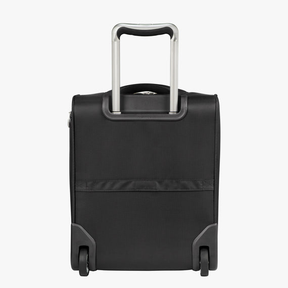 Small Carry-On Seahaven 16-inch Rolling Tote in Black Back View in  in Color:Black in  in Description:Back