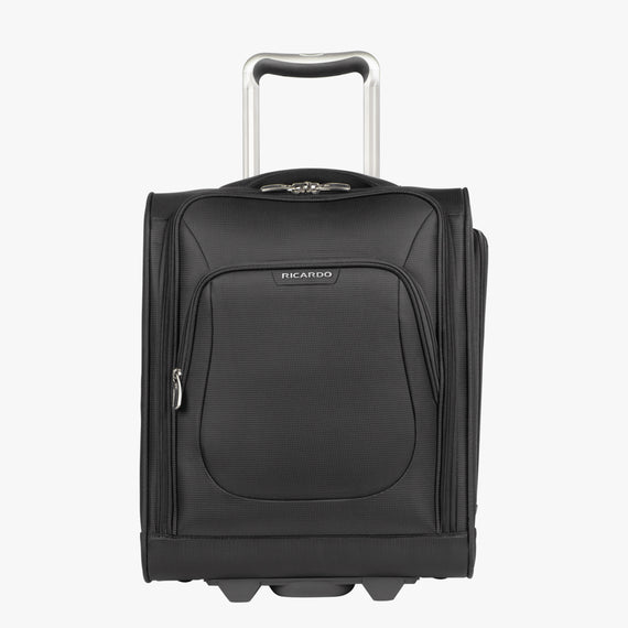 Small Carry-On Seahaven 16-inch Rolling Tote in Black Front View in  in Color:Black in  in Description:Front