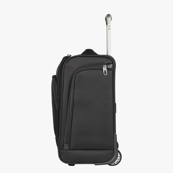 Small Carry-On Seahaven 16-inch Rolling Tote in Black Side View in  in Color:Black in  in Description:Side