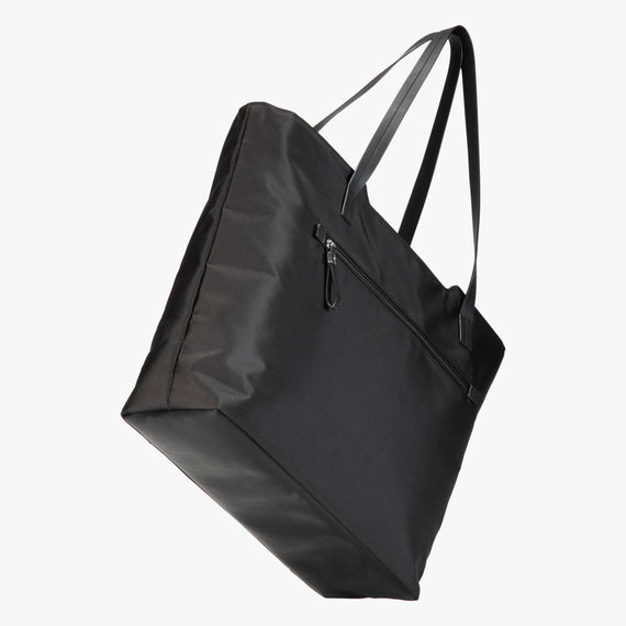Travel Tote Seahaven Tote in Black Angled View in  in Color:Black in  in Description:Angled View