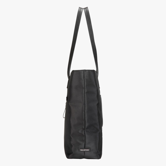 Travel Tote Seahaven Tote in Black Side View in  in Color:Black in  in Description:Side