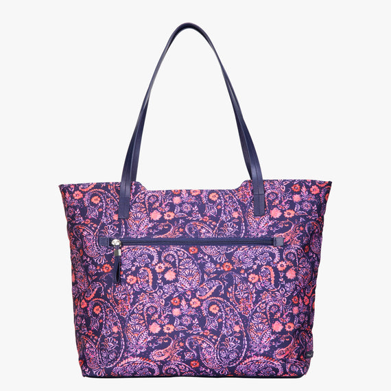 Travel Tote Seahaven Tote in Paisley Pink Front View in  in Color:Paisley Pink in  in Description:Front