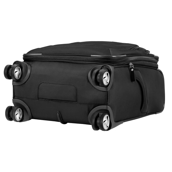 Carry-On Seahaven 20-Inch Carry-On Suitcase in Black Bottom View in  in Color:Black in  in Description:Bottom