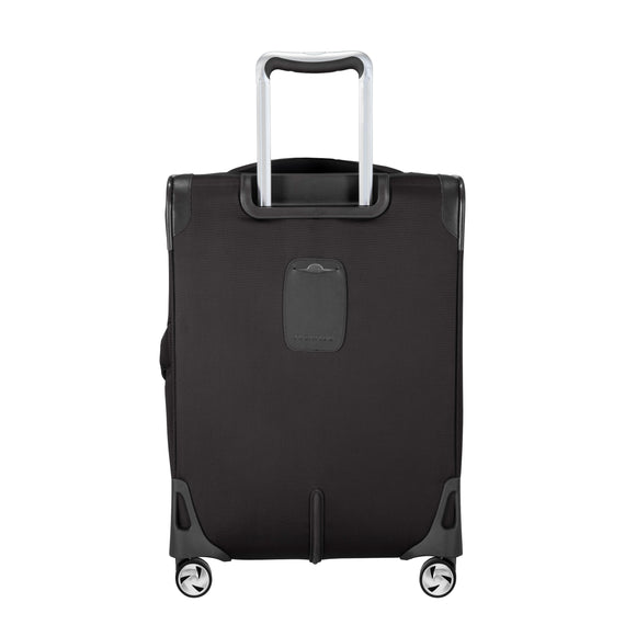 Carry-On Seahaven 20-Inch Carry-On Suitcase in Black Back View in  in Color:Black in  in Description:Back