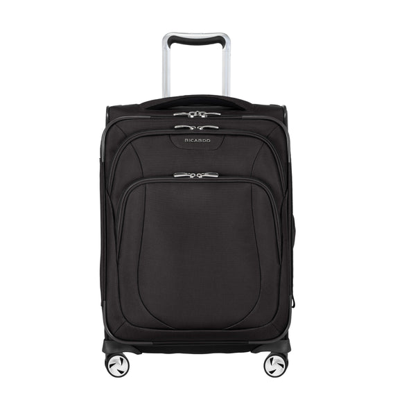 Carry-On Seahaven 20-Inch Carry-On Suitcase in Black Front View in  in Color:Black in  in Description:Front