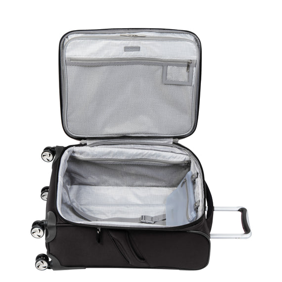 Carry-On Seahaven 20-Inch Carry-On Suitcase in Black Open View in  in Color:Black in  in Description:Opened
